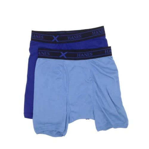 Hanes Men s Blue Comfort Cotton X-temp 2pk Boxer Brief  be8d5cb1d
