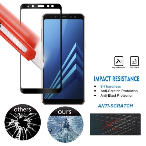 Screen Protector For Galaxy A8 2018 Black And Samsung Charger