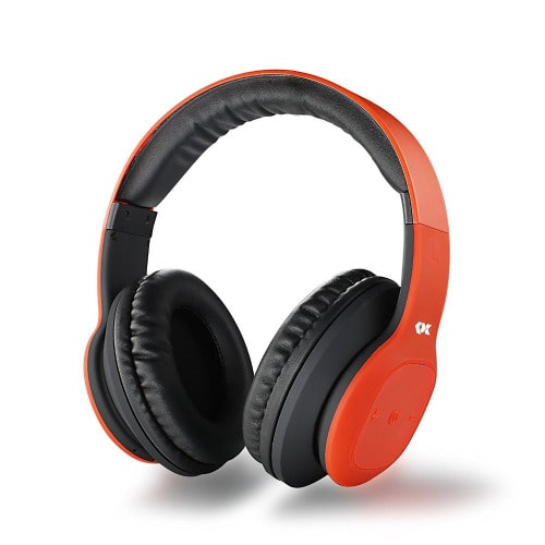 Wireless Over Ear Headphones With Micophone - Red