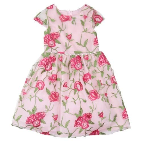 d202481177d Rare Editions Toddler Girls Floral Embroidered Cap Sleeve Dress ...