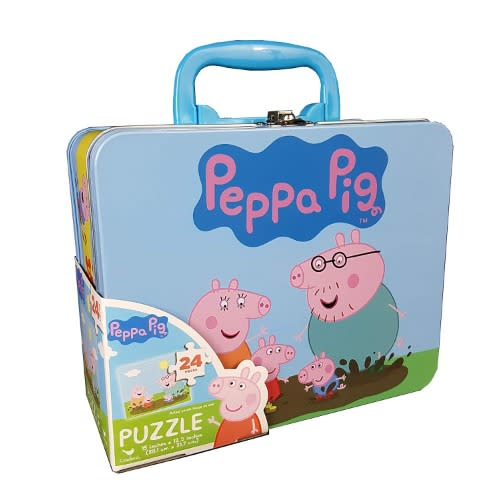 Peppa Pig Puzzle In Tin With Handle (24 Pieces)