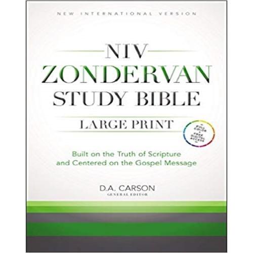 Niv Zondervan Study Bible, Large Print