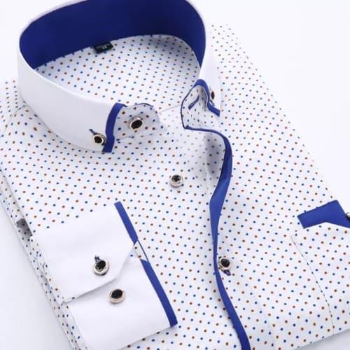9d7391a7b Men's Casual Long Sleeve Shirt - White & Blue | Konga Online Shopping