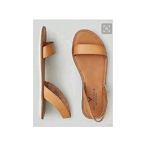 Women s Simple Flat Sandals - Brown