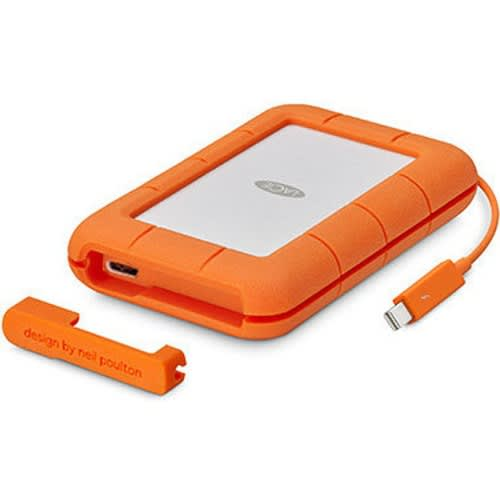 2TB Rugged Thunderbolt External Portable Hard Drive