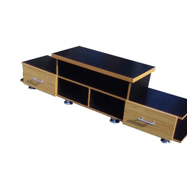 Kuriane TV Stand - Black And Gold Brown