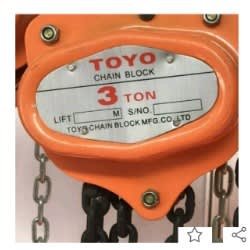 Toyo Manual Chain Hoist/block -3tons