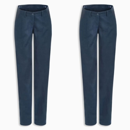 Adjustable Waist Blue Maternity Trousers