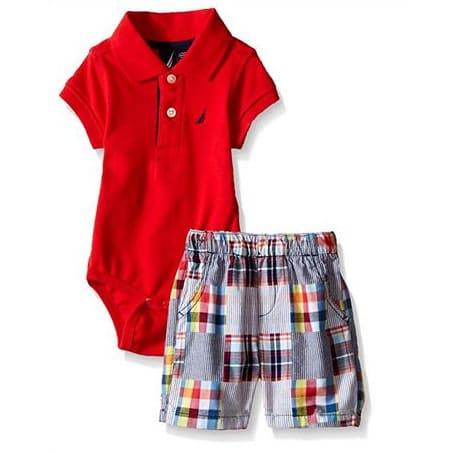 eb358d630 Nautica Baby Boys' 2 Piece Bodysuit Short Set | Konga Online Shopping