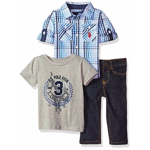 5013b6a4d  B a Baby-Boys-Sport-Shirt-Creeper-Pants