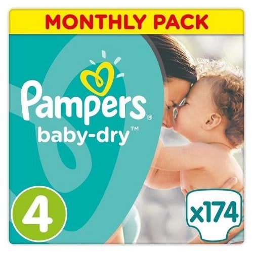 Pampers Baby-Dry Nappies Suitable for babies 15 kg Size 6 2 x  92 Giga Pack
