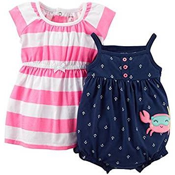 7996d5bb4 Carter's Baby Girls 2 Piece Dress & Romper - Multicolour | Konga ...