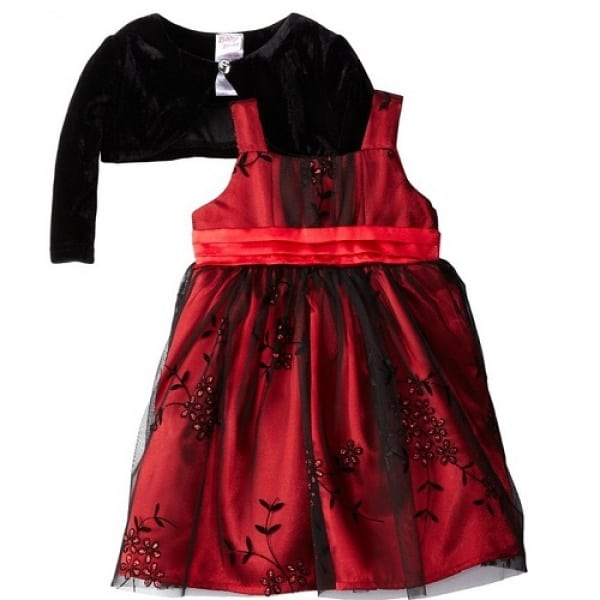 07262ce4288c Blueberi Boulevard Baby Girls' Red Special Occasion Dress with ...