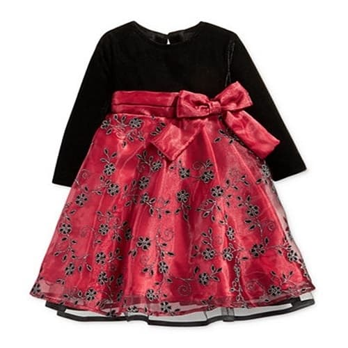Buy Baby Girls Velvet Special Occasion Dress Konga Online Shopping