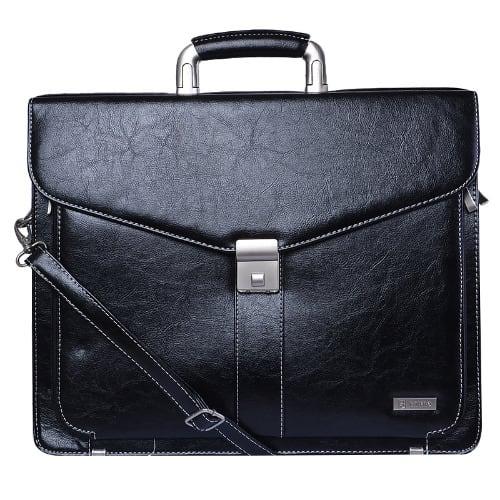 e92b26995094 Baleno Leather Briefcase - Black