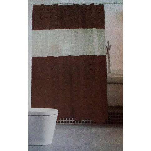 B A Bathlux Antibacterial Shower Curtain Dark