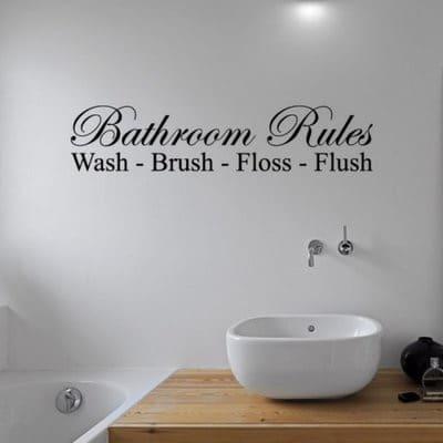 bathroom rules vinyl wall sticker | konga online shopping