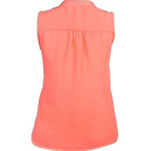 b5913f060e6806 Charlotte Russe Beautiful Sleeveless Chiffon Top – Orange