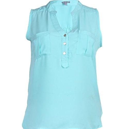 1508d1c7bf25da Charlotte Russe Beautiful Sleeveless Chiffon Top – Pale Green ...