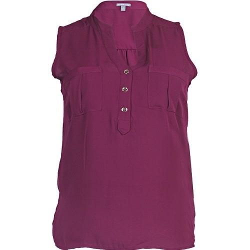 58ebb49ad5c07a Charlotte Russe Beautiful Sleeveless Chiffon Top – Wine Purple ...