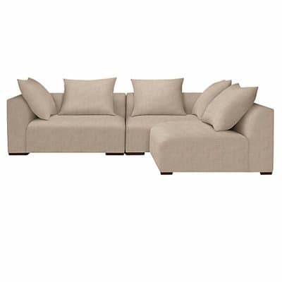 Beliani Oslo 5 Seater L-Shaped Corner Sofa
