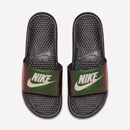 2aed9b04eca2 Nike Benassi Just Do it Print - Black Cobblestone