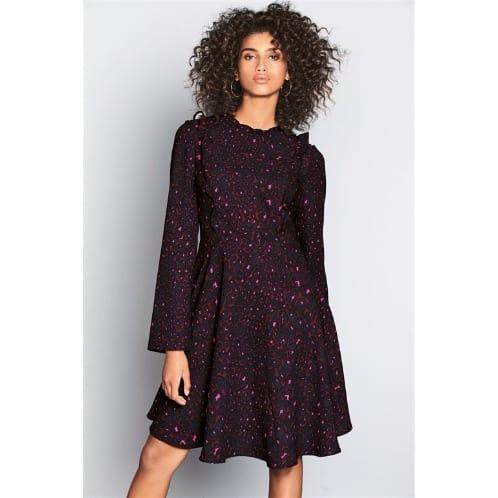 Berry Animal Skin Ruffle Next Dress - Multicolour  89c684652