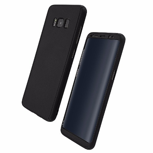 separation shoes 99c76 ed190 Black 360 Full Coverage Hard PC Phone Case for Samsung Galaxy S8 Plus