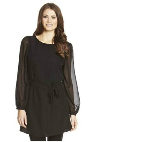 23d57c2a8b8 F & F Black Chiffon Tunic Dress | Konga Online Shopping