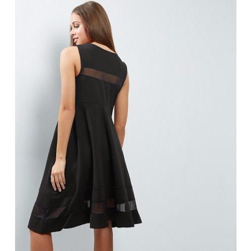 2cb3e2abbc New Look Black Mesh Skater Dress - Maternity