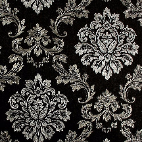 Black Silver Damask Ocean Wallpaper Konga Online Shopping