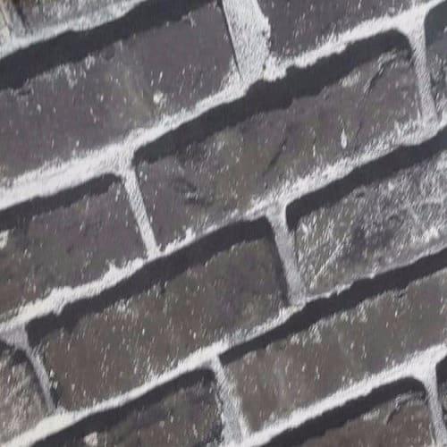 Black White Brick Pattern Wallpaper 5sqm