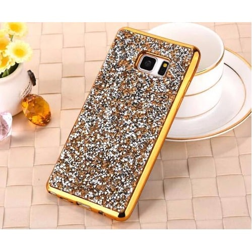 new arrival 683f4 7d02b Bling Bling Back Case for Samsung S7 Edge - Gold