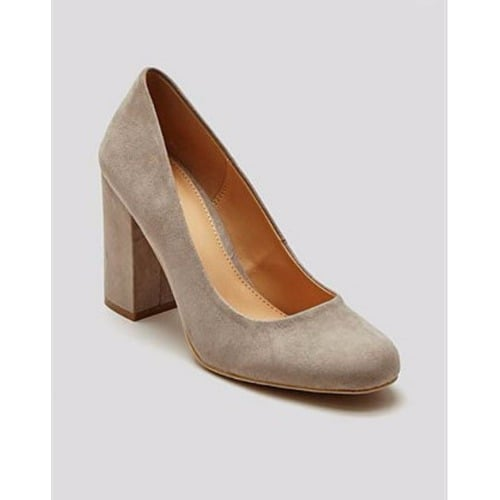 2d0323ece857 Matalan Block Heel Court Shoes - Grey