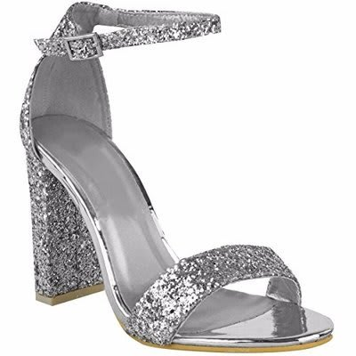 09eb63cd4c89d2 Block Heel Sandal For Women - Silver | Konga Online Shopping