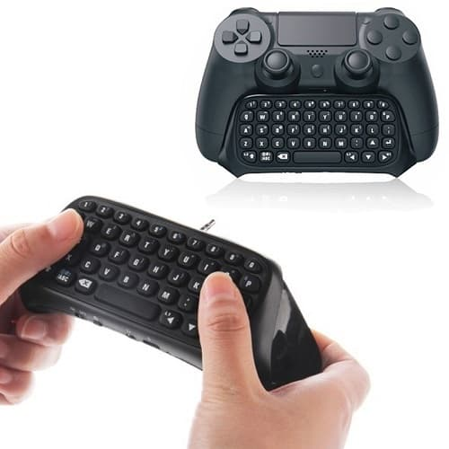 bluetooth wireless keyboard chatpad for ps4 playstation 4 controller konga online shopping. Black Bedroom Furniture Sets. Home Design Ideas