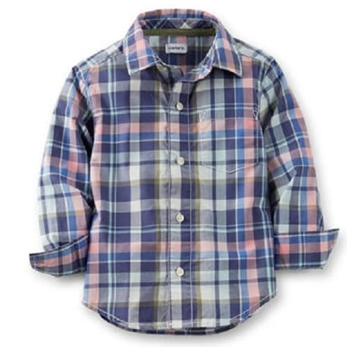 8e0d2cd9 Carter's Boy Plaid Long Sleeve Shirt - Navy Blue   Konga Online Shopping