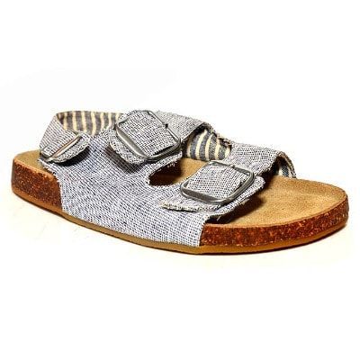 9e5c814462d2 Next Boy s Chambray Buckle Strap Foooted Sandal - Grey