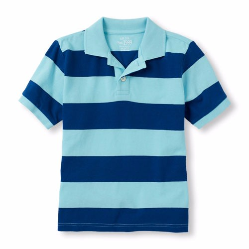 d4c4a74f8 The Childrens Place Boys Short Sleeve Striped Cotton Pique Polo ...