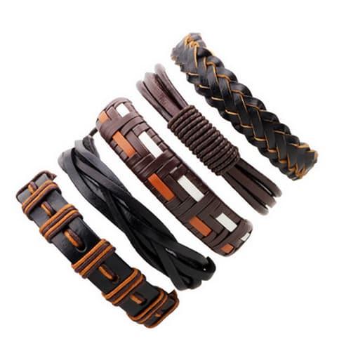 /B/r/Braided-Adjustable-Leather-Bracelet---Piece-Of-5---Brown-7814642.jpg