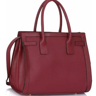 Burgundy Grab Tote Handbag