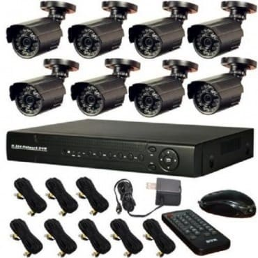 CCTV Security Recording System 8 Camera with Internet and 3G Phone Viewing