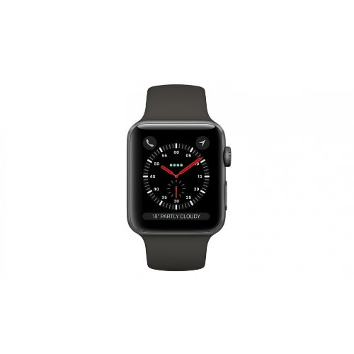 low priced 1a1dc 101c4 Watch Series 3 - Gps + Cellular - 42mm - Space Gray Aluminum Case With  Black Sport B