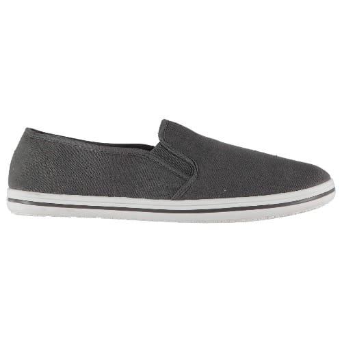 Men's Canvas Slip On Shoes - Dark Grey