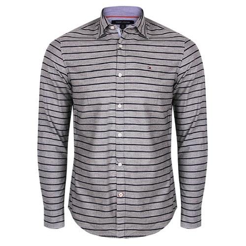 b8d650479e Tommy Hilfiger Men's New-york-fit Thin-stripes Shirt - Grey   Konga ...