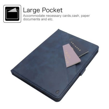 "Leather Card Holder Case With Apple Pencil Holder For iPad Pro 12.9"" 2018"