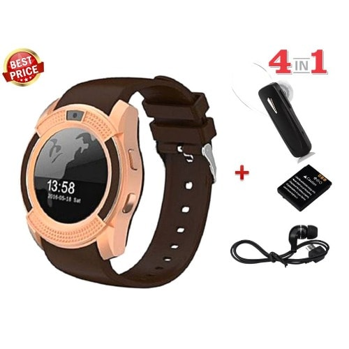 Y1S Plus Smartwatch with Camera + Bluetooth Headset & Micro