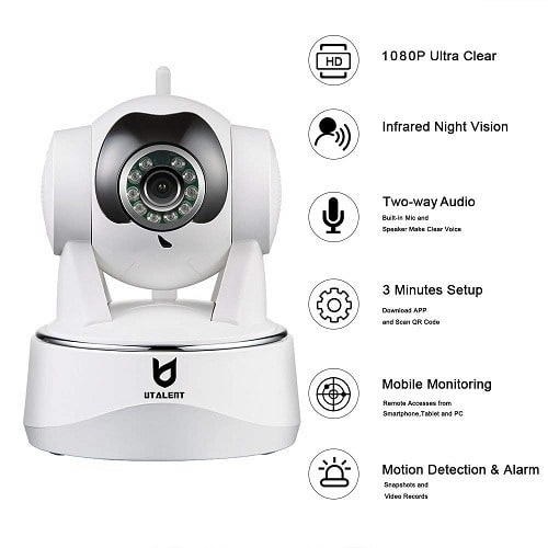 Two Way Audio Night Vision Security WIFI IP Camera With Motion Detection