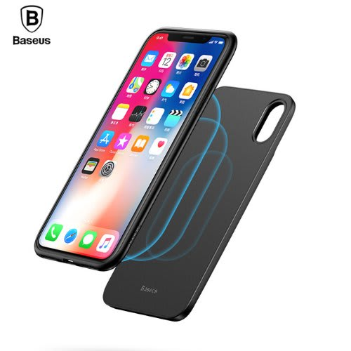 brand new b48ea 0b8cc Baseus 5000mah Qi Wireless Charger Case For Iphone X Power Bank For Samsung  S9 S8 Plus