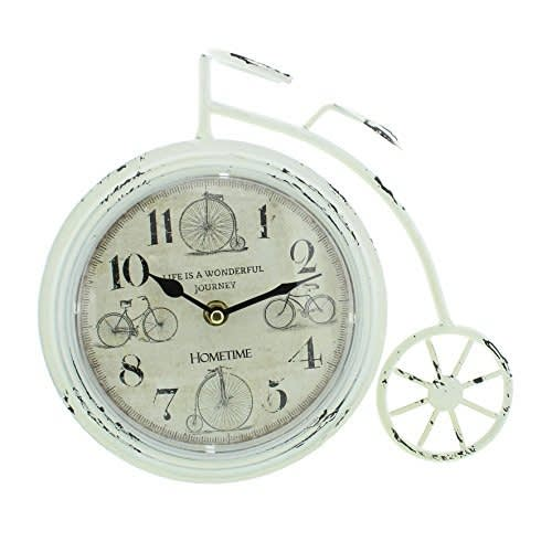 White Penny Farthing Mantel Clock